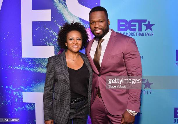 Comedian Wanda Sykes and rapper 50 Cent attend the 2017 BET Upfront NY at PlayStation Theater on April 27 2017 in New York City
