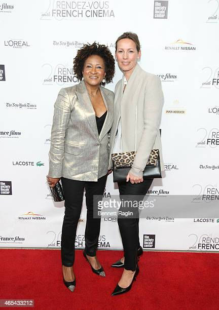 Comedian Wanda Sykes and wife Alex Sykes attends '3 Hearts' New York Premiere at Alice Tully Hall on March 6 2015 in New York City