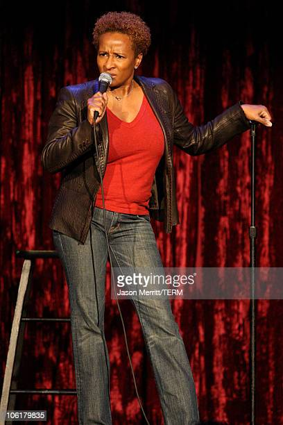 Comedian Wanda Sykes on stage during Wanda Sykes at the HBO AEG Live's 'The Comedy Festival' 2007 at Caesars Palace on November 17 2007 in Las Vegas...