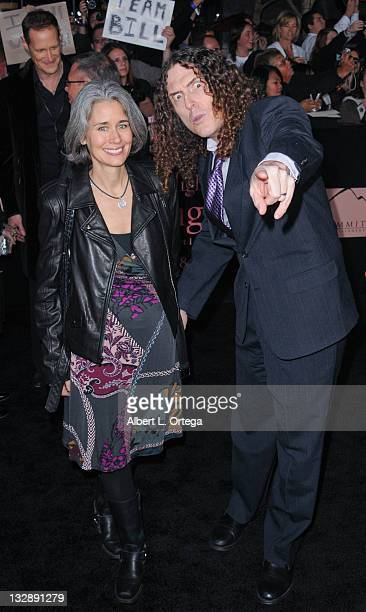 Comedian Weird Al Yankovic and wife arrive for Summit Entertainment's The Twilight Saga Breaking Dawn Part 1 held at Nokia Theatre LA Live on...