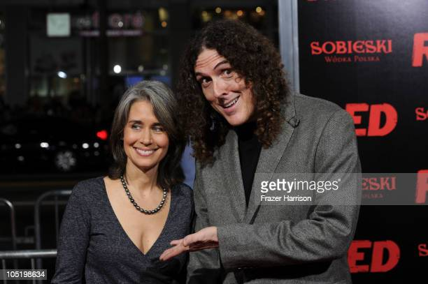 Comedian Weird Al Yankovic and wife Suzanne Yankovic arrive at a special screening of Summit Entertainment's 'RED' at Grauman's Chinese Theatre on...