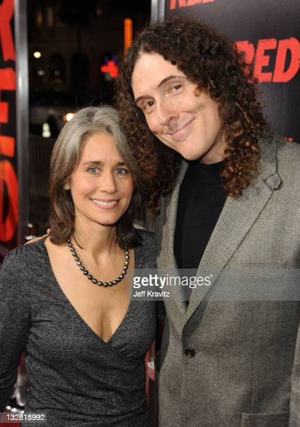 Comedian Weird Al Yankovic and wife Suzanne Yankovic arrive at the Los Angeles Special Screening of RED held at Grauman's Chinese Theatre on October...