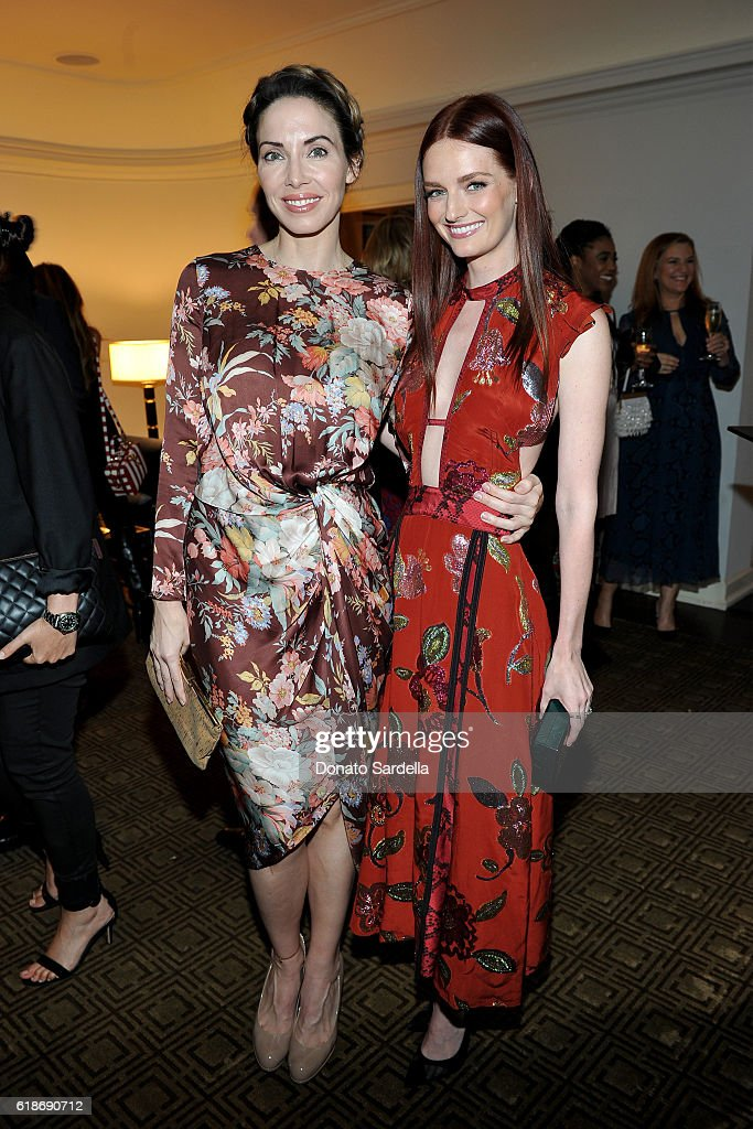 Comedian Whitney Cummings and actress Lydia Hearst, in Burberry, attend the Vanity Fair and Burberry event celebrating Felicity Jones and the British Academy Britannia Awards at Chateau Marmont on October 27, 2016 in Los Angeles, California.