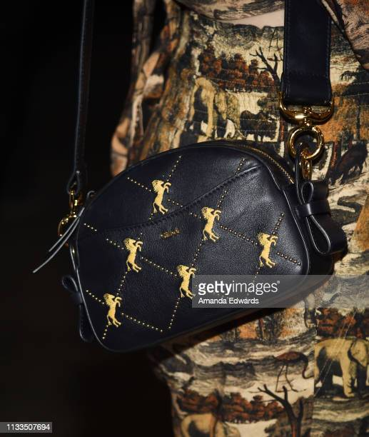 Comedian Whitney Cummings handbag detail attends The Animal Hope Wellness Foundation's 2nd Annual Compassion Gala at Playa Studios on March 03 2019...