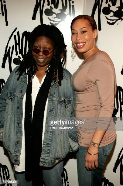 Comedian Whoopi Goldberg and her daughter actress Alex Martin attend the opening of Whoopi after party at the China Club November 17 2004 in New York...