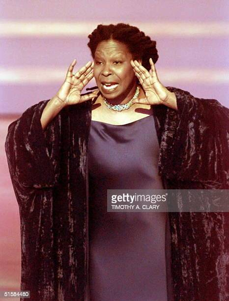 Comedian Whoopi Goldberg opens the show as host at the 68th Academy Awards 25 March at the Dorothy Chandler Pavillion. AFP PHOTO Timothy A. CLARY