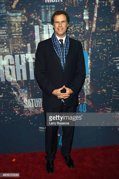 Comedian Will Ferrell attends SNL 40th Anniversary Celebration at Rockefeller Plaza on February 15 2015 in New York City