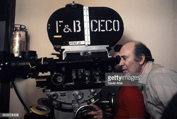 Comedian writer and director Carl Reiner directs the film 'Where's Poppa' in 1970 in New York City New York