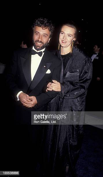 Comedian Yakov Smirnoff and wife Lnda Dreeszen attend the premiere of The Russia House on December 4 1990 at the Cinerama Dome Cinema in Universal...