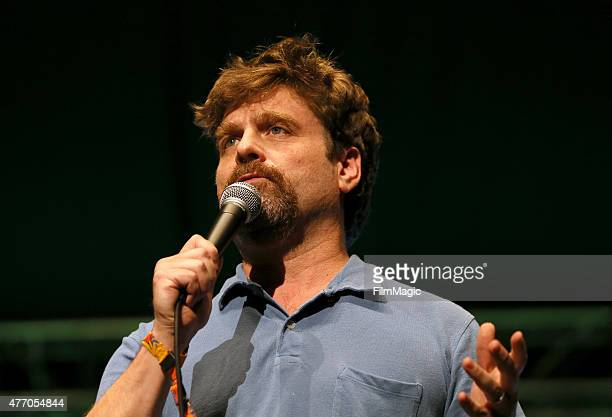 Comedian Zach Galifianakis performs onstage at the Comedy Theatre during Day 3 of the 2015 Bonnaroo Music And Arts Festival on June 13 2015 in...