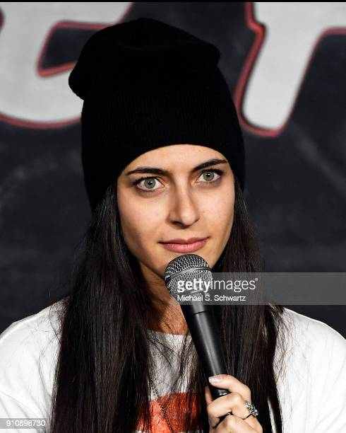 Comedian Zara Mizrahi performs during her appearance at The Ice House Comedy Club on January 26 2018 in Pasadena California