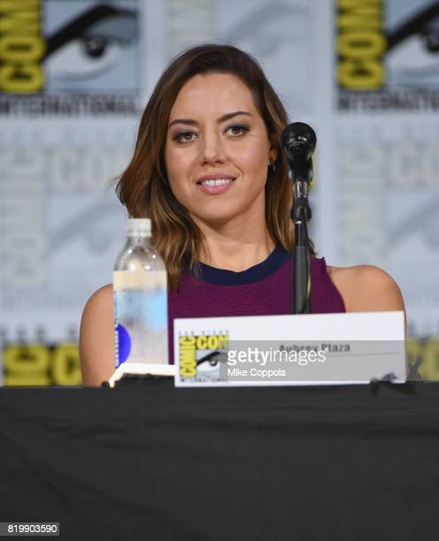 Comedian/actor Aubrey Plaza onstage at the 'Legion' screening and QA during ComicCon International 2017 at San Diego Convention Center on July 20...