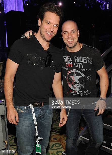Comedian/actor Dane Cook and singer/guitarist Chris Daughtry at the 14th annual Andre Agassi Foundation for Education's Grand Slam for Children...