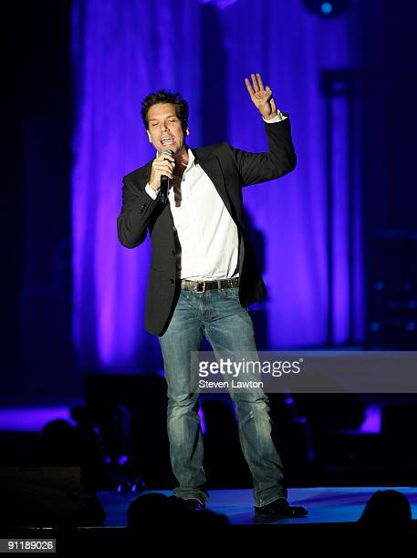 Comedian/actor Dane Cook performs at the 14th annual Andre Agassi Charitable Foundation's Grand Slam for Children benefit concert at the Wynn Las...