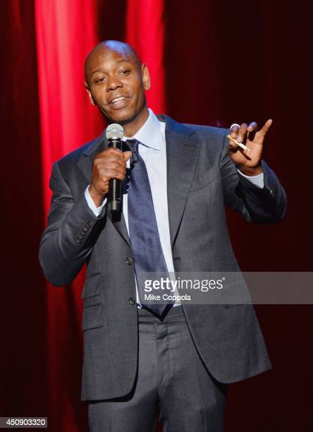 Comedian/actor Dave Chappelle performs at Radio City Music Hall on June 19 2014 in New York City