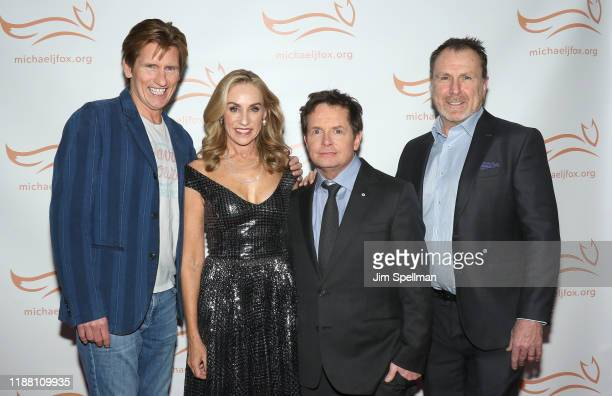 Comedian/actor Denis Leary actors Tracy Pollan Michael J Fox and comedian Colin Quinn attend the 2019 A Funny Thing Happened On The Way To Cure...