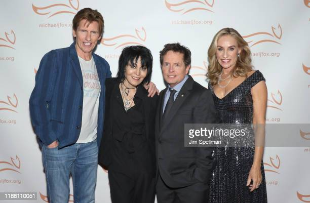 Comedian/actor Denis Leary musician Joan Jett actors Michael J Fox and Tracy Pollan attend the 2019 A Funny Thing Happened On The Way To Cure...