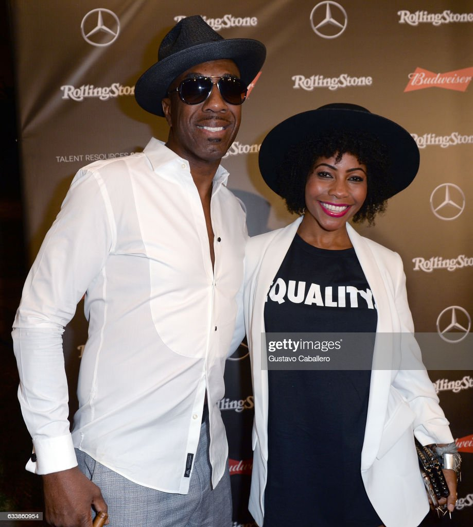 Comedian/actor J. B. Smoove (L) and singer Shahidah Omar at the Rolling Stone Live: Houston presented by Budweiser and Mercedes-Benz on February 4, 2017 in Houston, Texas. Produced in partnership with Talent Resources Sports.