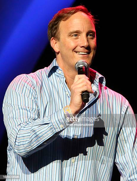 Comedian/actor Jay Mohr performs onstage at Kevin Bean's 2013 'pril Foolishness' presented by KROQ at Gibson Amphitheatre on April 6 2013 in...