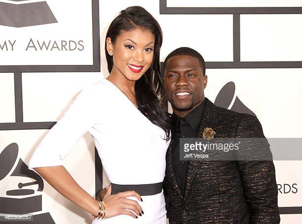 Comedian/actor Kevin Hart and Eniko Parrish attend the 56th GRAMMY Awards at Staples Center on January 26 2014 in Los Angeles California