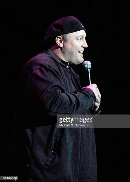 Comedian/actor Kevin James performs at A Night Of Comedy VII Benefiting The Children Affected By AIDS Foundation at The Wilshire Theatre on March 14...