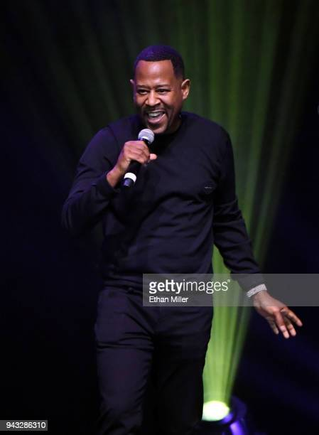 Comedian/actor Martin Lawrence performs his standup comedy routine during Martin Lawrence's Lit AF Tour at the Mandalay Bay Events Center on April 7...