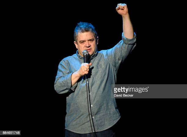 Comedian/actor Patton Oswalt performs his standup routine at The Joint inside the Hard Rock Hotel Casino on December 2 2017 in Las Vegas Nevada