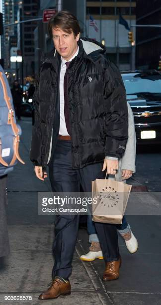 Comedian/actor Pete Holmes visits 'The Late Show With Stephen Colbert' at the Ed Sullivan Theater on January 10 2018 in New York City