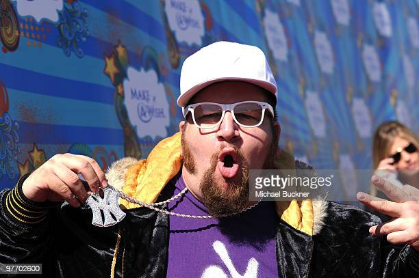 Comedian/actor Stephen Glickman attends the MakeAWish Foundation's Day of Fun hosted by Kevin Steffiana James held at Santa Monica Pier on March 14...