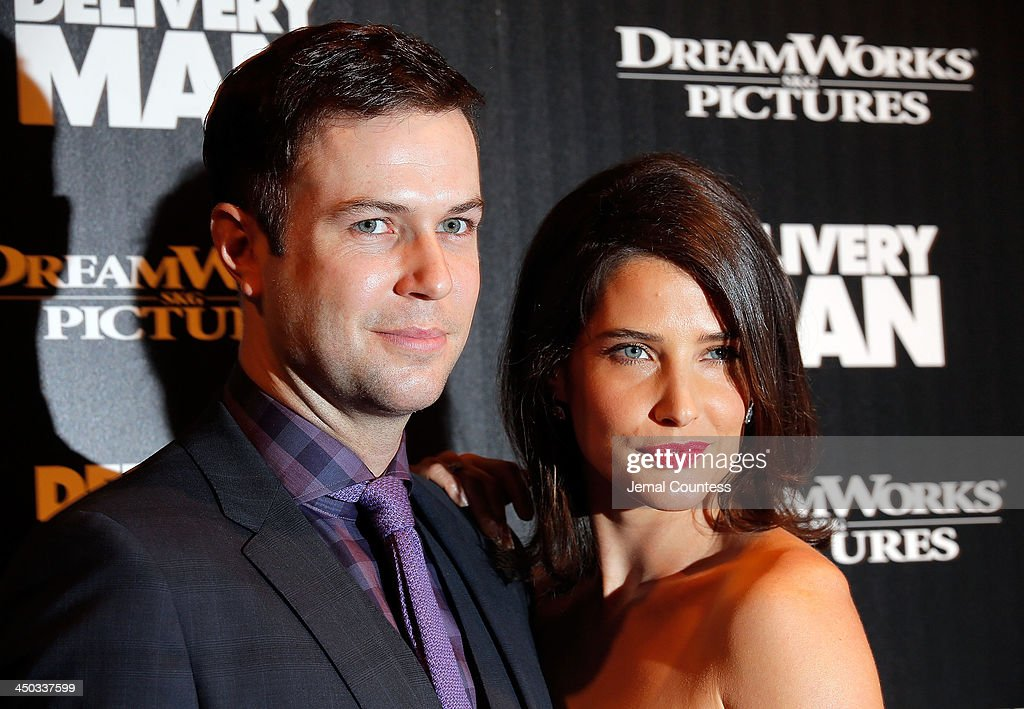 Comedian/actor Taran Killam and actress Cobie Smulders attend the screening of 'Delivery Man' hosted by DreamWorks Pictures and The Cinema Society at Paley Center For Media on November 17, 2013 in New York City.