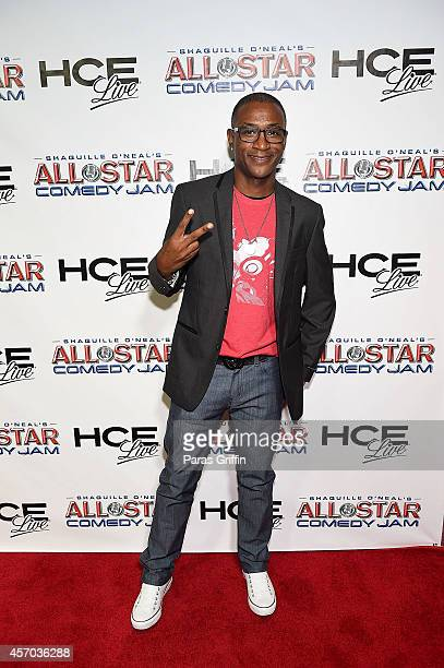 Comedian/actor Tommy Davidson attends the HCE Live presents Shaquille O'Neal All Star Comedy Jam at Cobb Energy Center on October 10 2014 in Atlanta...