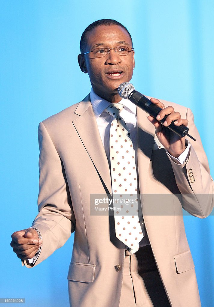 Comedian/actor Tommy Davidson performs during the Executive Preparatory Academy of Finance's 'Reason To Believe' Inaugural charity fundraising gala at Vibiana on February 20, 2013 in Los Angeles, California.