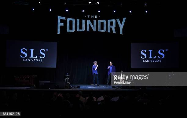 Comedian/actors Dana Carvey and Jon Lovitz perform as they kick off their 20show residency 'Reunited' at The Foundry at SLS Las Vegas on January 6...