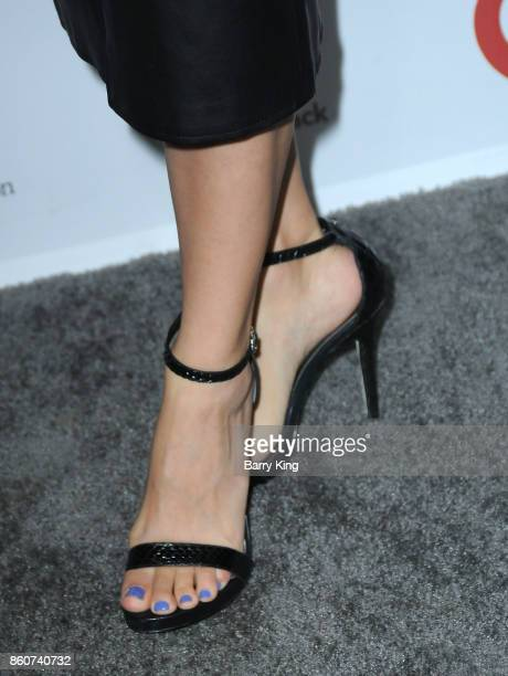 Comedian/actress Anjelah Johnson shoe detail attends the Eva Longoria Foundation annual dinner at Four Seasons Hotel Los Angeles at Beverly Hills on...