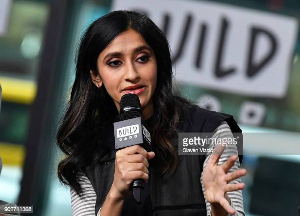 Comedian/actress Aparna Nancherla visits Build Series to discuss her new HBO show 'Crashing' at Build Studio on January 8 2018 in New York City