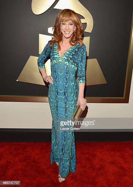 Comedian/actress Kathy Griffin attends the 56th GRAMMY Awards at Staples Center on January 26 2014 in Los Angeles California