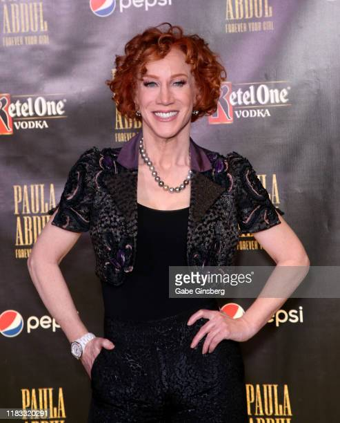 Comedian/actress Kathy Griffin attends the official opening for the Paula Abdul Forever Your Girl Flamingo Las Vegas residency at The Cromwell Las...