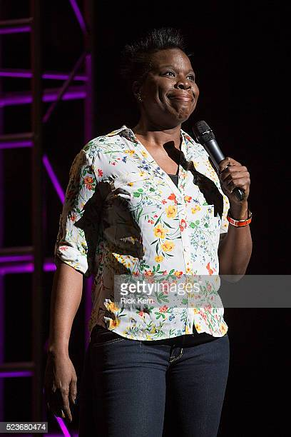 Comedian/actress Leslie Jones performs onstage during the Moontower Comedy Festival at The Paramount Theatre on April 23, 2016 in Austin, Texas.