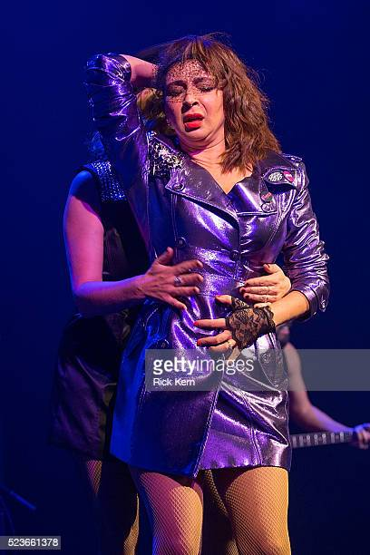 Comedian/actress Maya Rudolph and vocalist Gretchen Lieberum perform onstage as part of the Prince cover band Princess during the Moontower Comedy...