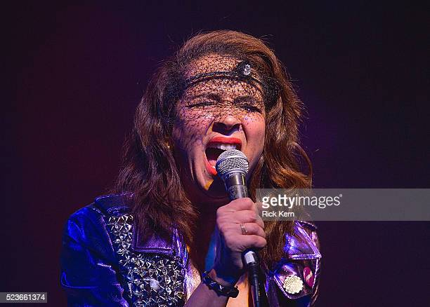 Comedian/actress Maya Rudolph performs onstage as part of the Prince cover band Princess during the Moontower Comedy Festival at The Paramount...