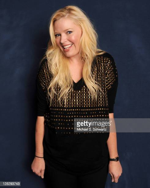 Comedian/actress Melissa Peterman poses at The Ice House Comedy Club on October 8 2010 in Pasadena California