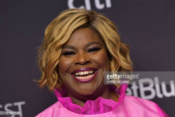 US comedian/actress Retta arrives for the PaleyFest presentation of NBC's Parks and Recreation 10th Anniversary Reunion at the Dolby theatre on March...