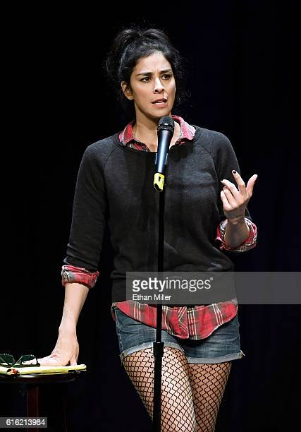Comedian/actress Sarah Silverman performs her standup comedy routine at MGM Grand Hotel Casino on October 21 2016 in Las Vegas Nevada