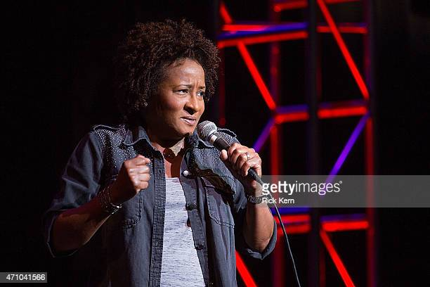 Comedian/actress Wanda Sykes performs onstage during the Moontower Comedy Festival at The Paramount Theatre on April 24 2015 in Austin Texas