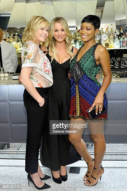 Comedian/Actress/WriterTv host/Producer Chelsea Handler actress Kaley Cuoco and actress/singer Keke Palmer attend Fergie First Lady of Los Angeles...