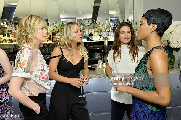 Comedian/Actress/WriterTv host/Producer Chelsea Handler actress Kaley Cuoco director at the Wall Group Kate Stirling and actress/singer Keke Palmer...