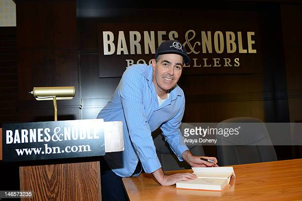 Comedian/author Adam Carolla signs copies of his new book 'Not Taco Bell Material' at Barnes Noble bookstore at The Grove on June 19 2012 in Los...