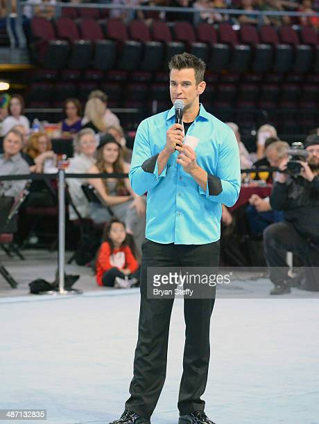 Comedian/juggler Jeff Civillico speaks to the audience during The Animal Foundation's 11th annual 'Best in Show' a benefit for the animal shelter at...