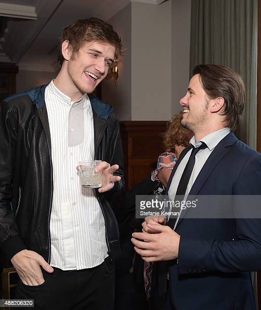 Comedian/musician Bo Burnham and actor Jason Ritter attend The Meddler TIFF party hosted by GREY GOOSE Vodka and Soho Toronto at Soho House Toronto...