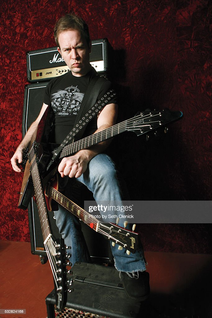 Comedian Musician Brendon Small Photographed In The Studio While News Photo Getty Images